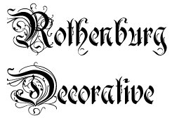 Rothenburg, a very elegant font, great for neptune or just any SM pagez!